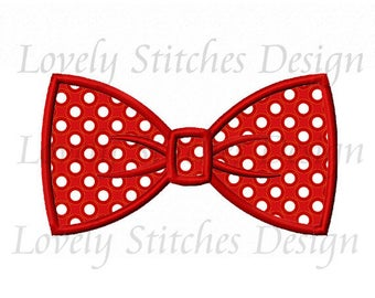 Bow Tie Applique Machine Embroidery Design NO:0613