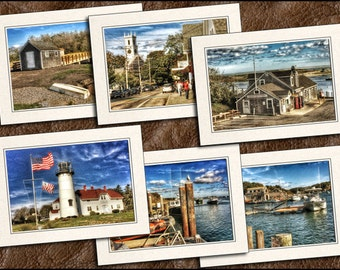 6 Chatham Photo Note Card Set - 5x7 Chatham Note Cards - Cape Cod Cards - Chatham Greeting Card Handmade (CH1)