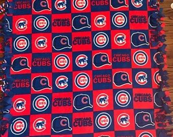 Chicago Cubs Fleece Tie Blanket