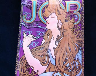 A Small Melamine Tip Tray Marked Made In Italy And With A Picture/Design By Alphonse Mucha Titled Job Cigarette Papers