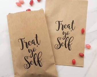 Treat yo' Self - Set of 50 - Wedding Paper Bags