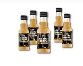 "24 Mini Liquor Bottle Labels ""Abolish Prohibition"" Printable Champagne Bottle Flute Bootleg Prohibition Speakeasy Gatsby Roaring 20s Favors"
