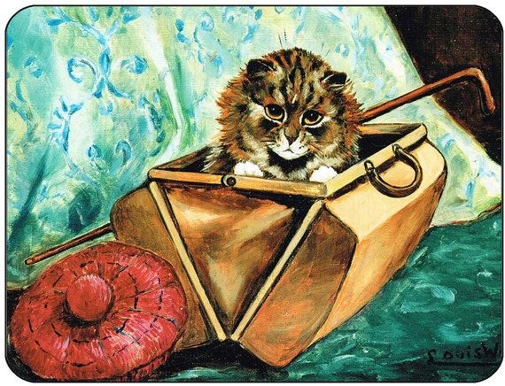 Louis Wain Gladstone Cat Mouse Mat Mouse Pad