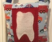 Tooth Fairy Pillow, truck and car Tooth Fairy Pillow
