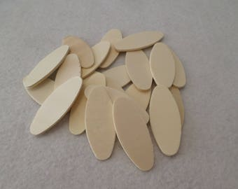 "20 Wood ovals, unfinished, 2"" x 13/16"" x 1/16"", for wood crafts, wood shapes, wood pieces, kid's crafts"