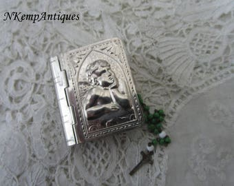 Antique rosary box and rosary for the collector