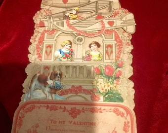 Pretty, Victorian Valentines Day PopUp Card