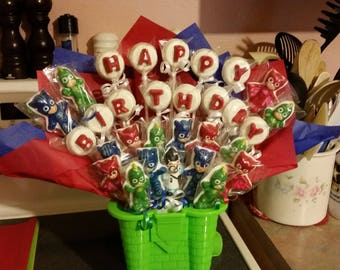 28 Pc. Happy Birthday Little Masks Bouquet