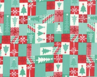 Moda Christmas fabric by the yard - Moda Jingle fabric by Kate Spain - Christmas tree fabric - #17021