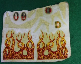 Vintage Scale Model Hot Rod Hood Flame, Pinstriping and NASCAR Decals - Kit No. 690M Bobtail-T Free Shipping