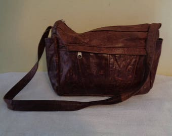 Beautiful Vintage Reddish Brown leather purse made in Mexico