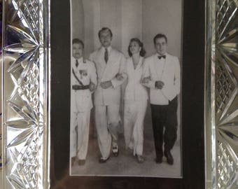 Old Cut Glass Photo Frame