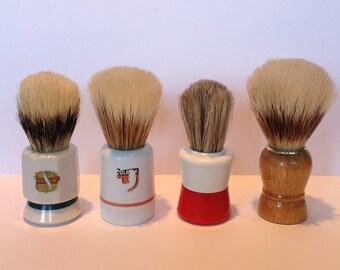 1930s-1950s Shaving Brush Collection. Vintage Shaving Brushes x 4 Pieces. Men's & Womens Shaving. Pure Bristle Shaving Brushes. Shave Den.