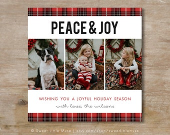 Holiday Card template - Christmas card template - 5x5 card template - holiday cards - christmas cards