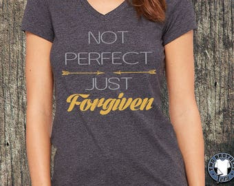 Not Perfect-Just Forgiven T-shirt