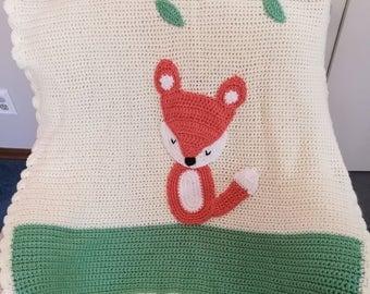 Woodland Fox Blanket
