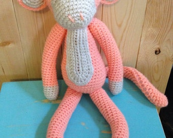 Crochet monkey, crochet doll, monkey doll, crochet monkey doll, kids doll, crochet animal, animal doll