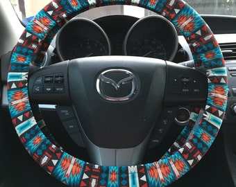 Bohemian Southwestern Steering Wheel Cover