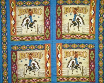 Rodeo Cowboy Pillow Panels #502