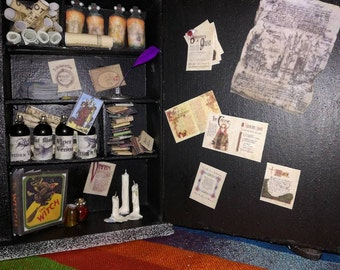 Witches apothecary diorama
