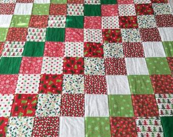 Christmas blanket, Christmas quilt, baby blanket, Christmas