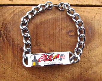 Vintage Souvenir Bracelet - Old Country Busch Gardens Williamsburg Virginia Souvenir