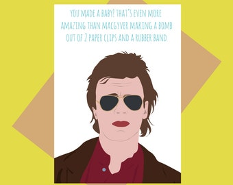 Macgyver - baby card - funny baby card
