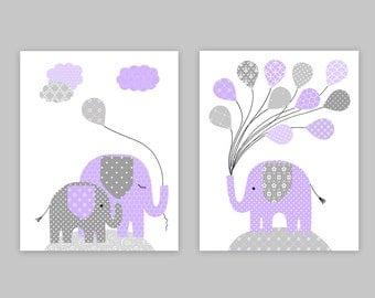 Elephant Nursery Art, Girl's Room Decor, Nursery Wall Art, Baby Shower Gift, Baby Girl Room, Girl Nusery Prints, Elephant Nursery Prints