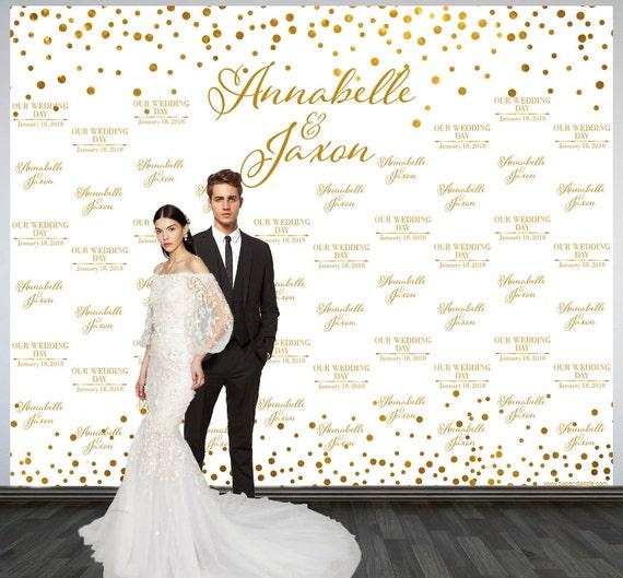 wedding photo backdrop printed custom wedding party backdrop On custom wedding backdrops