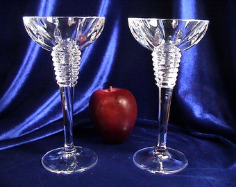Waterford Marquis Gemini Ball Candlesticks, Waterford Candle Holders, Free Shipping (342)