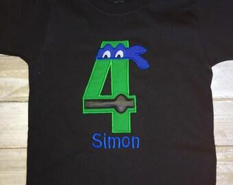 Ninja 5, 4 or 3 Customized with Name Toddler T-Shirt// 5 years Old// 4 years old// 3 years old// Boy Birthday