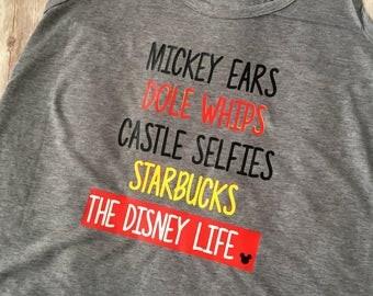 Disney Life Shirt, Dole Whips shirt, Disney trip shirt, Disney trip tank, Disney Ears Castle Selfies Shirt