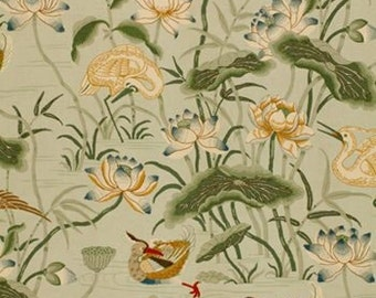 Lotus Garden in Pool -One Pillow Cover
