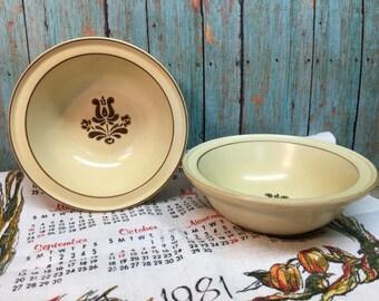 "Pfaltzgraff Village Bowls/Set of Two/6""/Soup/Cereal Bowls"