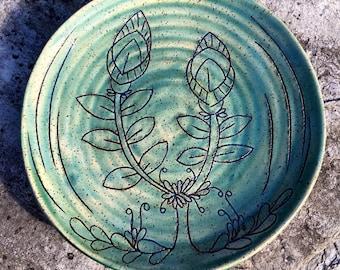 Stoneware Serving Platter or Center Piece