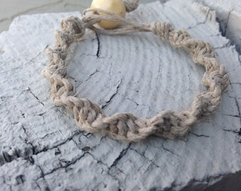 Hemp Bracelet; Natural Hemp Bracelet; Macrame Hemp Bracelet