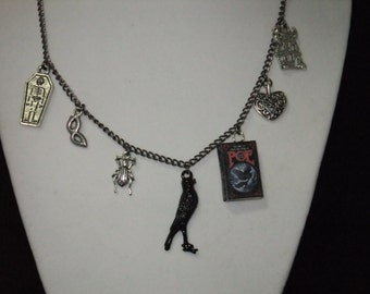 Poe Book Necklace - Version 1 - Great Gift for Book Lovers!