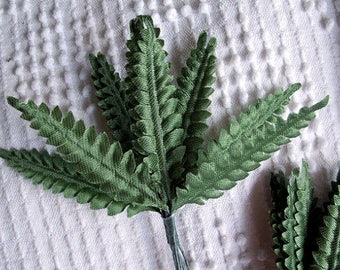 3 bunches MINI FERNS green foliage floral craft supplies LEAVES