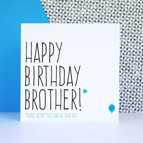Funny Brother Birthday Card Birthday Card For Brother Happy