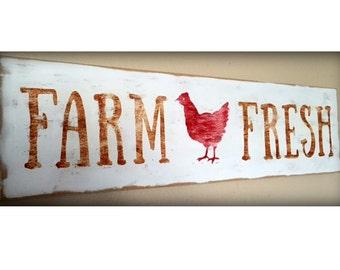 Farm Fresh Sign Farmhouse Sign Farm Style Farm Life Fresh Eggs