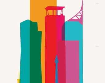 Shapes of Jakarta art print