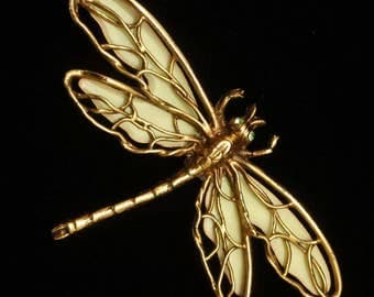 Dragonfly Insect Brooch Pin Vintage
