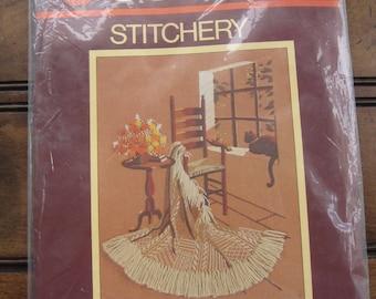 SOLD - Sunset Stichery Crafts Wool Cross Stitch Kit - Cosy Corner