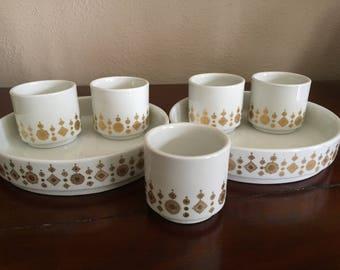 Ridgway Steelite Snowflake Design  2 Plates and 5 Cups Cunard Line