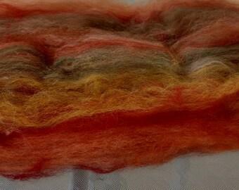 2 oz. Fall Harvest dyed alpaca batt