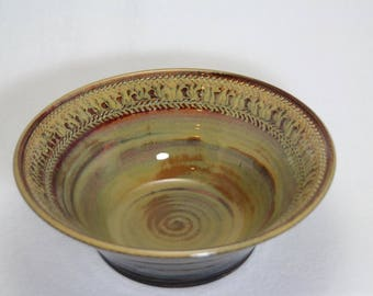 ceramic bowl, pottery casserole or serving bowl
