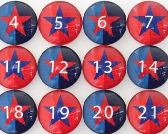 Number Magnets -  Stars!