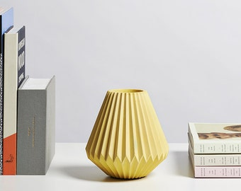 Pleated #02 Concrete Vase