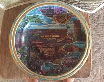 Grand Canyon National Park metal bowl, vintage