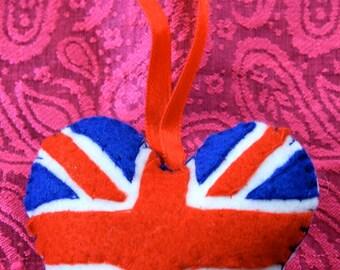 Felt Union Jack Hanging Pincushion